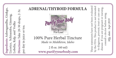 Adrenal Thyroid Herbal Tincture
