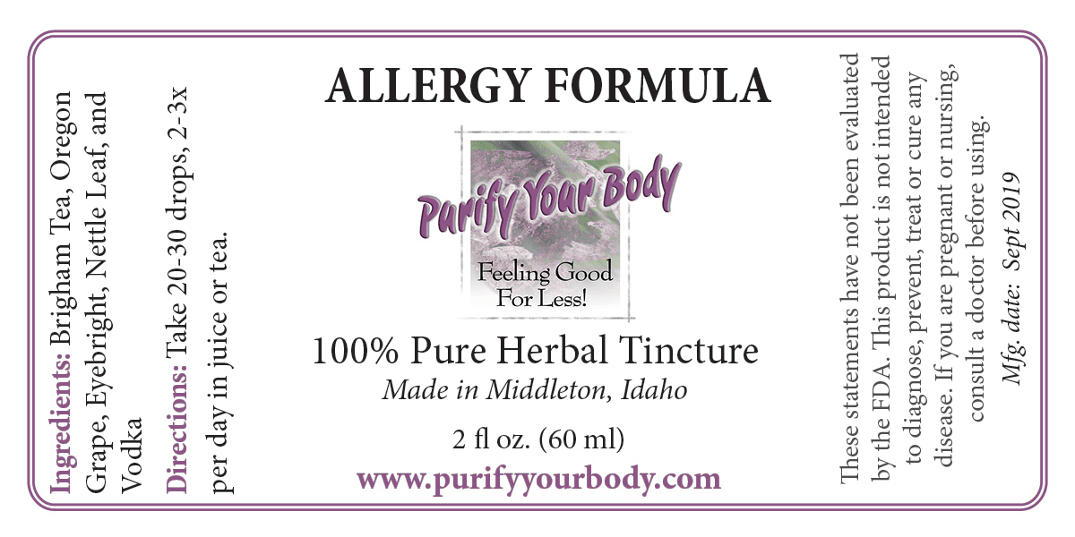Allergy Herbal Tincture