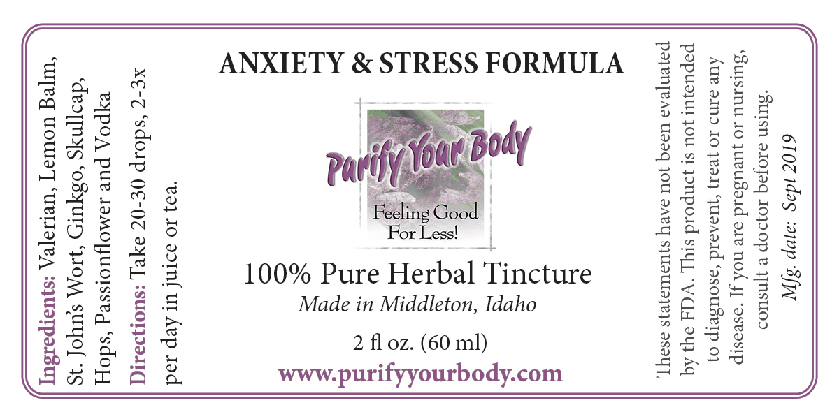 Anxiety and Stress Herbal Formula