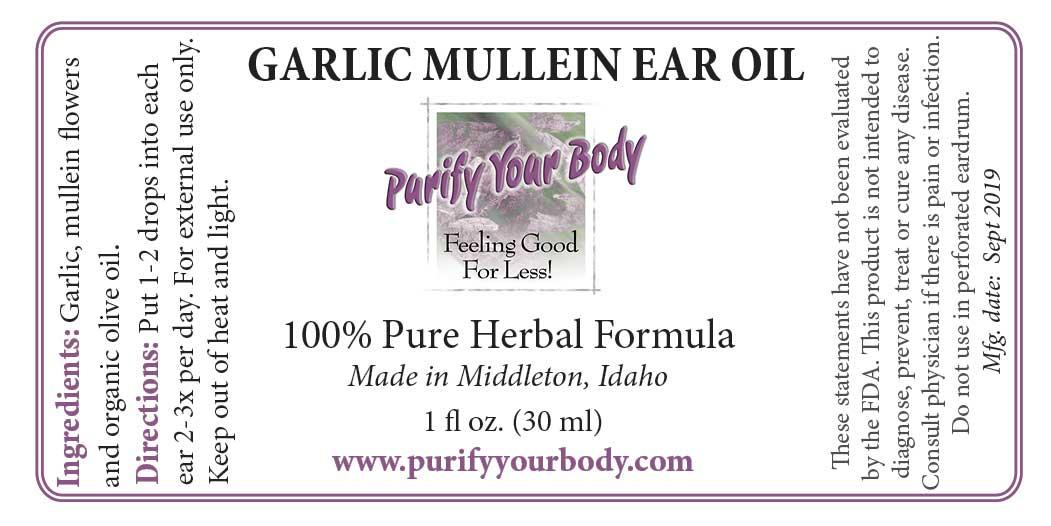 Garlic Mullein Ear Oil