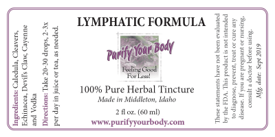 Lymphatic herbal tincture