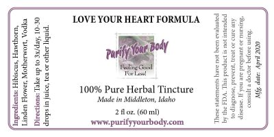 cardiovascular heart herbal tincture