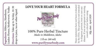 cardiovascular heart herbal tincture