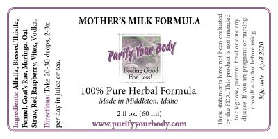 Mother's Milk Formula for Breastfeeding