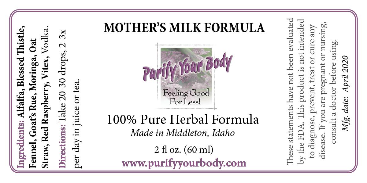 Mother's Milk Formula for Breastfeeding