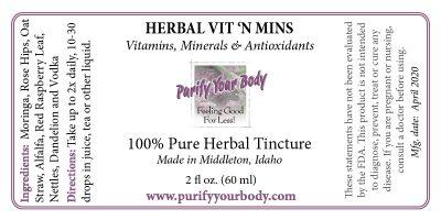 Vitamins and Minerals and Antioxidant Formula