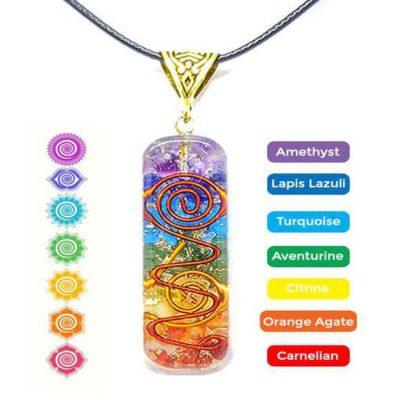 orgonite chakra pendant